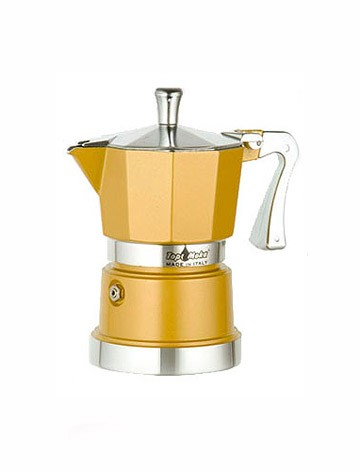 "Картинка Гейзер Top Moka ""Caffettiera Super Top"" 6 порций (240 мл.) (золотой)"